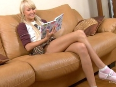 Daring schoolgirl Vika Housemaid with upskirt is having real fuck
