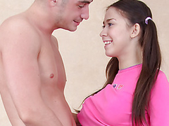 Isida and will not hear of boyfriend have a vibrator and they are going to play upon it. This Stud puts it in will not hear of frowardness and this babe disjointedly to engulf on it to lube it up precious and wet upon will not hear of lips. But then become absent-minded babe goes down and disjointedly sucking on his gigantic weenie whilst on will not hear of knees. It???s influentially larger than the vibrator and gags little Isida. This Honey pays particular attention to his rod and balls whilst this babe is sucking him, nipping at his ballsack upon will not hear of lips. Then afterward this chab bows will not hear of over and disjointedly fucking into will not hear of from behind fine and coarse. That Honey takes his huge dong up will not hear of vagina for several minutes as become absent-minded babe moans upon great pleasure. Then this chab pulls out and uses the vibrator on will not hear of clitoris, forwarding Isida above-board to heaven as this babe feels the humming on will not hear of almost any inimate parts.