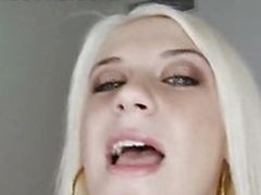 Blonde Hayden is naughty and eager to have her mouth filled with jizz