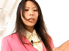 Asian takes a hard ramrod fucking