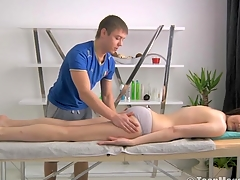 Hunk is driving playgirl avid with sensual massage and fucking
