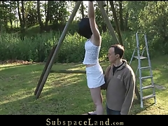 Restrained in ropes by her Dom legal age teenager slavegirl slut Friend Style is exposed to painful punishment. Waxed and spanked this babe is wide opened for him to pussyfuck her unfathomable whenever this chab wants to