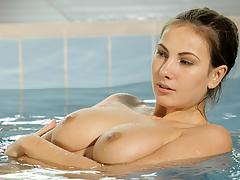 Alluring swimmer