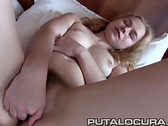 Nisha came to Spain expecting a job or smth'. Well we found her a job which means taking Torbe his dick in her vagina and making sure this chab cums all inside her!