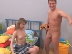 Adorable lawful age teenager giving a oral-service and getting gaped abiding